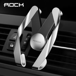 Wholesale ROCK Auto bot M Mobile Vent Phone Car Holder for iPhone Samsung Car ABS Material Air Outlet Adjustable Car Phone Stand