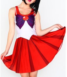 Wholesale sailor costumes for women online – ideas Summer Dresses for Women Clothing Sailor Moon Style Cosplay Costume Dress Ladies Office Dresses Sundress Drop Ship