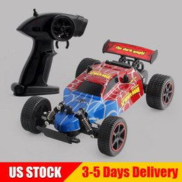 racing battery box 2018 - Avengers Buggy Car Spiderman 1:28 Scale 15KMH RTR Racing 2WD 2.4G Remote Control Cars Avenger Off Road Truck Christmas T