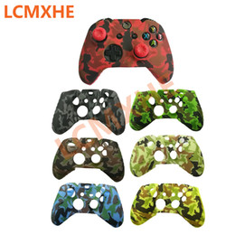 xbox one controller covers NZ - 10pc Camouflage Silicone Protective Skin Case thumb Stick Grip caps for XBox One Controller joystick Protector Water Transfer Printing Cover