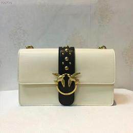 7d503d81e2 Pinko Chaînes en cuir véritable Cross Body sac à bandoulière créateur de  marque de luxe designer Sacs à bandoulière noir / blanc Europe Style