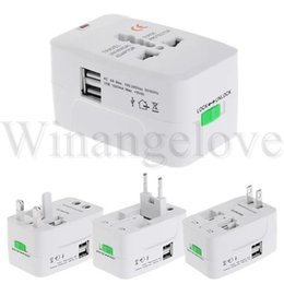 Iphone International NZ - All in One Universal International Plug Adapter 2 usb Port World Travel AC Power Charger Adaptor with AU US UK EU Converter Plug