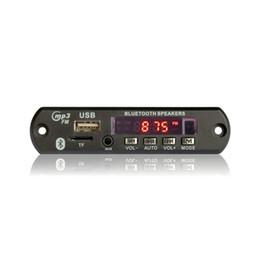 Car Radio Built Speaker Canada - Newest Hot 2017 Wireless Bluetooth 12V MP3 WMA Decoder Board Audio Module USB TF Radio For Car accessories