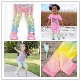 ae49d765edd Baby Girls Unicorn Mermaid Scale Gradient Leggings tights Kids Boys Fashion  Glossy Scale Print Tights Children Long Blue Pants 52906