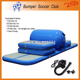 Wholesale track ship for sale - Group buy Pieces air track roller pump Inflatable Tumbling Mat Airtrack Training Set For Home Use Sealed Air Track