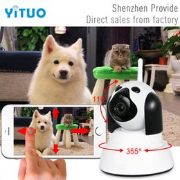 Wholesale IP Camera WiFi Wireless Smart Dog Security Camera Micro SD Network Rotatable Defender Home Telecam HD P CCTV IOS PC YITUO