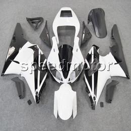Fairing 98 R1 Black NZ - Custom+Screws white black YZFR1 98-99 YZF-R1 1998 1999 ABS motorcycle fairing article for Yamaha