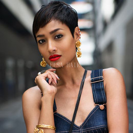 hot hairstyles for short hair 2019 - Hot Bob Human Hair Wigs With Baby Hair Straight Brazilian Virgin none Lace Front Bob Wigs For Black Women cheap hot hair