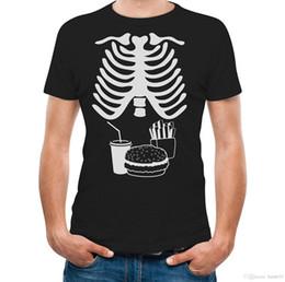 Food T Shirts Australia - Halloween X RAY Skeleton Junk Food Belly XRAY Funny Men T-Shirt Newest 2017 Men T Shirt Fashion Top Tee Funny Plus Size