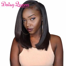 Virgin Brazilian Human Hair Wigs Australia - Short Bob Wigs Brazilian Virgin Hair Straight Lace Front Human Hair Wigs For Black Women Swiss Lace Frontal Wig Remy Hair