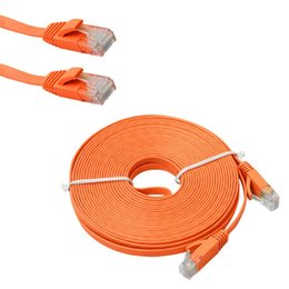 Chinese  1M 2M 3M 5M 10M CAT 6 Flat UTP Ethernet Network Cable RJ45 Patch LAN Cord Noodles Network line 7529 manufacturers