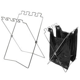 Car garbage bags online shopping - Folding Garbage Bag Holder Practical Stainless Steel Bags Storage Rack Sturdy Anti Wear Pouch Stand Easy To Carry gt B
