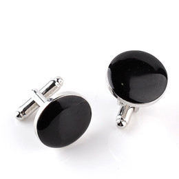 Chinese  New round men's two-color cuff link fashion French cuff link fashion dress shirt accessories manufacturers
