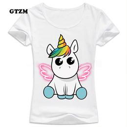 f3403cb72d GTZM 2017 Slim Funny Unicorn T shirt Women Tops Kawaii Unicornio T-shirt  Female Summer Top Tshirt licorne Sexy Tees Cropped