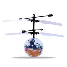 Flashing Helicopter Toy UK - funny Fantastic New Fashion Infrared Induction Flying Flash Disco Colorful LED Ball Helicopter Child Toy