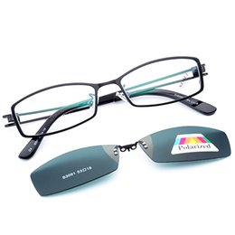 719e880b76 2018 Brand A Set Design Men Alloy Optical Glasses With Polaroid Sunglasses  Lens Prescription Myopia Frame Glasses Eyewear