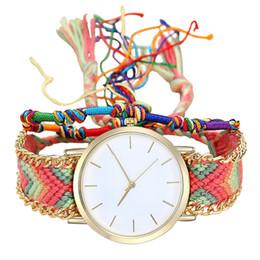 wholesale fashion friendship bracelets 2019 - Vansvar Women Bracelet Watch 2018 Fashion Casual Clock Handmade Ladies Vintage Quartz Watch White Friendship Watches  PY