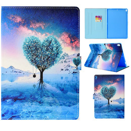 character inch tablet cover NZ - Tablets Case Funda For iPad Pro 10.5 inch Cover Fashion painting PU Leather Wallet Bags Card slot Dormancy function Tablet Cases