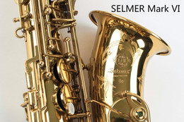 China SELMER Mark VI High Quality Alto Eb Saxophone Professional Musical Instrument Brass Gold Plated Sax Pearl Buttons With Case, Accessories cheap professional alto sax suppliers