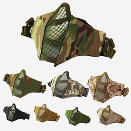 Chinese  Outdoor CS Tactical Hood Hunting Wargame Breathing Face Balaclava Mask Cycling Half face mask Hood mk453 manufacturers