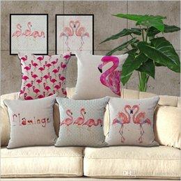 $enCountryForm.capitalKeyWord Australia - Flamingo Pillow Case Flamingo Birds Throw Cushion Cover Office Car Pillow Cover Pillowcase Sofa Car Decoration Christmas Decor Gifts B3358