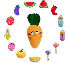 Dog Toys Pet Puppy Chew Squeaker Squeaky Plush Sound Cute Fruit Vegetable Designs Toys Pet products Free Shipping from essential oil car diffuser manufacturers