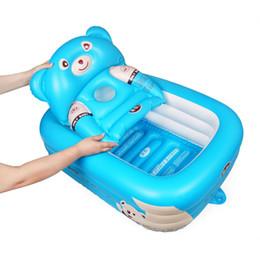 $enCountryForm.capitalKeyWord UK - Cartoon Baby Bathtub Newborn Baby Foldable Inflatable Bathtub Large Thickened Bathing Pool Paddling Pool for Sitting and Lying