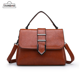 simple handbags Australia - Vintage Women Bags PU Leather Ladies Handbags Shoulder Bags Simple Design Small Flap Crossbody For Women Messenger Sac