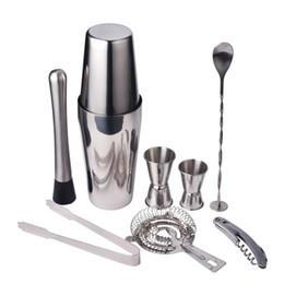 CoCktail bartender kit online shopping - 9pcs set Stainless Steel Cocktail Shaker Mixer Drink Bartender Browser Kit Bars Set Tools Professional Bartender LZ0946