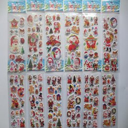 Crafts Party Supplies Wholesale NZ - Party Supplies Stars phone Santa Claus 3D PVC Puffy Anime Cartoon Stickers Kids Toys Cartoon Craft Classic Toys Christmas SN1630