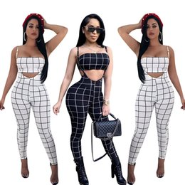 $enCountryForm.capitalKeyWord Australia - New 2018 Summer Womens Two Pieces Jumpsuit Ladies Back Zipper Spaghetti Strap Jumpsuit Crop Top and Pants 2 Pcs Set Outfits HISIMPLE