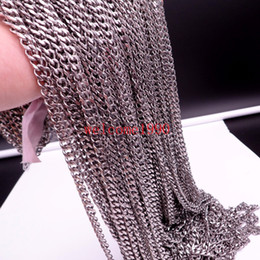 jewelry findings links UK - Bags Wholesale Lots Stainless Steel 5mm 8mm Silver Curb Chain DIY Jewelry Finding Marking Chain In Bulk 5meter 10meter