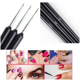 3pcs / Set Nail Art Liner Brushes Set рисование живопись УФ-гелевая ручка 3d советы DIY Flower Line Design Pen маникюр Nail Art Tool