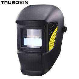 Chinese  Light Li Battery DIN11 Solar Auto Darkening Electric Welding Mask Helmet Welder Cap for Welding Equipment and Plasma Cutter manufacturers