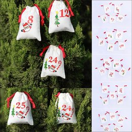 $enCountryForm.capitalKeyWord Australia - Christmas drawstring candy bags cartoon Santa Sack Bags gifts bag home cotton Storage Kids bag Xmas Tree Ornament Decor AAA720