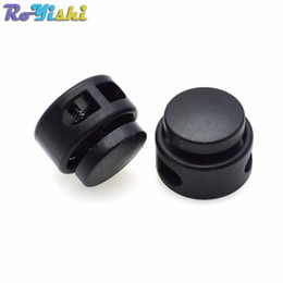 Paracord lock online shopping - 25pcs Plastic Cord Lock Stopper Toggle Clip Black For Paracord Size mm mm