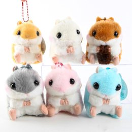 "$enCountryForm.capitalKeyWord Australia - Hot ! 6 Style Hamster Keychain Plush Doll Soft Pendant Toy For Child Holiday Best Gifts 4"" 10cm"