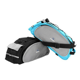 bicycle bars UK - Bicycle Bag Bike 13L Tail Rear Bags Multifunction Rack Pannier Trunk Back Seat Shelf Pouch Cycling Luggage Shoulder Handbag