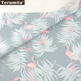 $enCountryForm.capitalKeyWord Australia - Teramila Cotton Fabric Twill Fat Quarter Soft Material Bed Sheet Light Grey Bedding Quilting Patchwork Cartoon Animals Designs