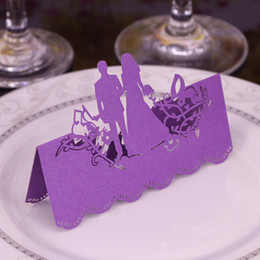 $enCountryForm.capitalKeyWord UK - Laser Cut Place Cards Hollow Paper Name Card With Lovers For Party Wedding Seating Cards Wedding Table Decorations PC2007