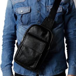 $enCountryForm.capitalKeyWord Australia - Male Genuine Leather First Layer Cowhide Crossbody Bag Travel Fashion Cross Body Sling Chest Day Back Pack