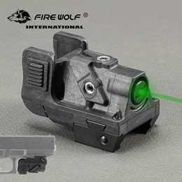 TacTical pisTol lighTs online shopping - Green Dot Pistol Laser Sight nm mw Tactical Green Laser Gun Sight Scope for Picatinny Rail Rifle