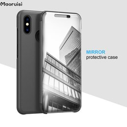 China Clear View Mirror Smart Case For Xiaomi 8 8SE 6X 6 5X 5C MIX 2 Flip Stand back Cover Cases For Xiaomi 4X NOTE3 NOTE5A bags cheap flip cover for note3 suppliers