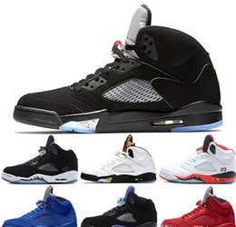 041538029257 2018 New wings 5 5s mens basketball shoes PSG Black White grape Laney  International Flight Fresh Prince Oreo Sports Sneakers designer shoes