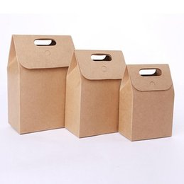 $enCountryForm.capitalKeyWord Australia - Brown Kraft Paper Packing Bags With Handle Foldable Handbags Tea Dried Fruit Food Gift Box LX4000
