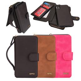 $enCountryForm.capitalKeyWord NZ - Leather Wallet Case for iPhone X Flip Cover Multifunction Card Slot Purse Handbag Case Dirt-resistant Protective Back Case Wholesale
