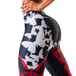 $enCountryForm.capitalKeyWord UK - S-L Sexy Butterfly Print Leggings Women High waist Push Up leggings Sporting and Fitness Leggins Mujer S18101502