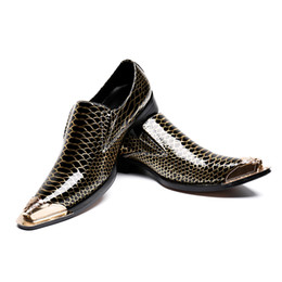 Hot Sell leather men handmade loafers with Metal Tip Fashion Banquet and prom  wedding men dress shoes office suit shoe c985d95422cb