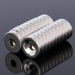 Discount neodymium disc magnets hole - 20pcs 15x4mm Ring magnet Super strong neodymium D15*4 NdFeB Disc Magnet Neodymium magnet With 5mm Hole