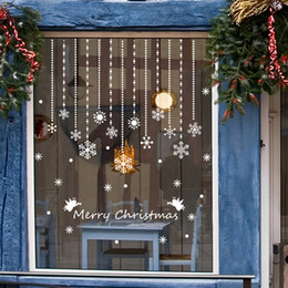 2018 christmas 36 pcs white snowflake christmas winter wonderland decorations home and store window christmas atmosphere decoration discount christmas